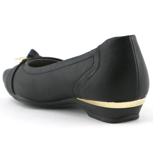 Black Flats Ballerina for Women (147.139) - SIMPLY SHOES HONG KONG