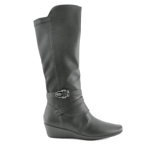 Black Comfort Long boots for Women (144.045) - SIMPLY SHOES HONG KONG