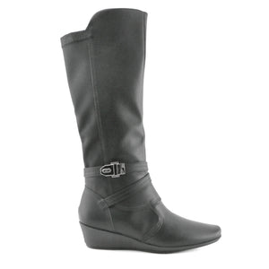 Black Comfort Long boots for Women (144.045)
