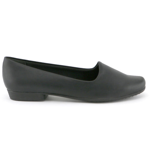 Black Nappa Ballerina Flats for Women (250.132)