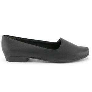 Black Nappa Flats Ballerina for Women (250.132)