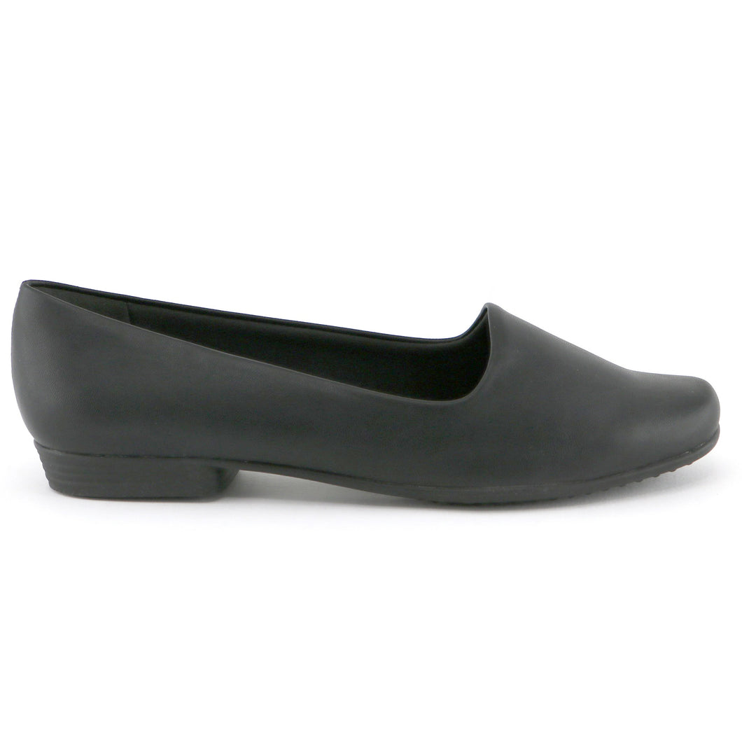 Black Nappa Flats Ballerina for Women (250.132) - SIMPLY SHOES HONG KONG