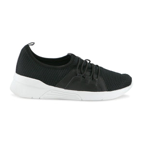 Black/White Sneakers for Women (970.037) - SIMPLY SHOES HONG KONG