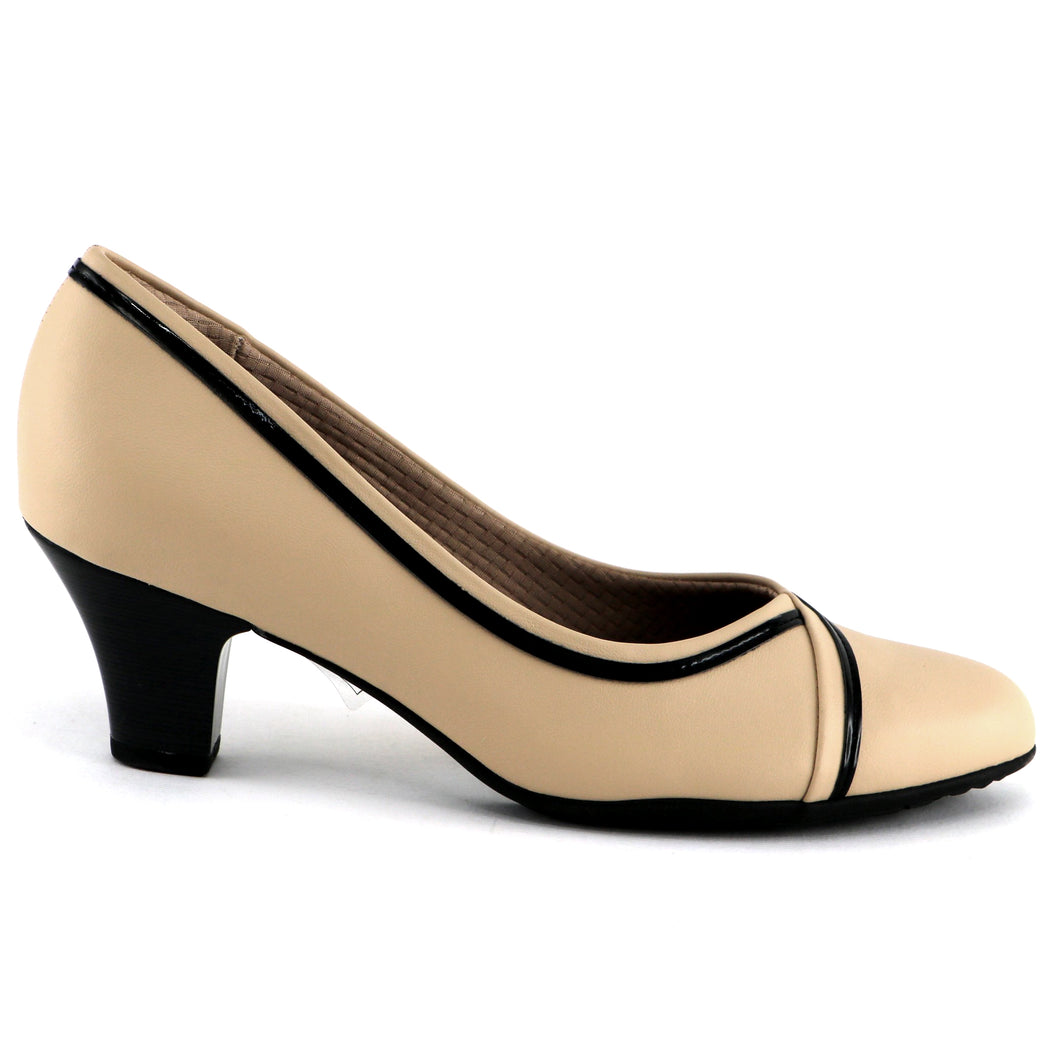 Nude/Cream Pumps for Women (704.012)