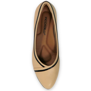 Nude/Cream Pumps for Women (704.012) - SIMPLY SHOES HONG KONG