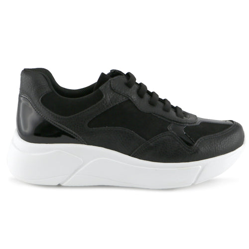 Black/White Sneakers for Women (986.002) - Simply Shoes Hong Kong