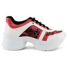 Red Chunky Sneakers for Women (987.003)