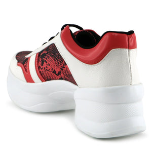 Red Chunky Sneakers for Women (987.003) - SIMPLY SHOES HONG KONG