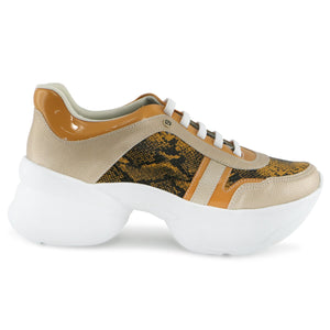 Nude Chunky Sneakers for Women (987.003) - SIMPLY SHOES HONG KONG