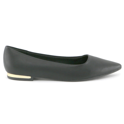 Black Nappa Flats for Women (274.047)