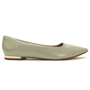 Lime Patent Flats for Women (274.047)
