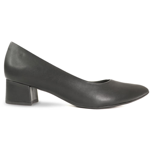 Black Nappa Ladies Pumps (738.002)