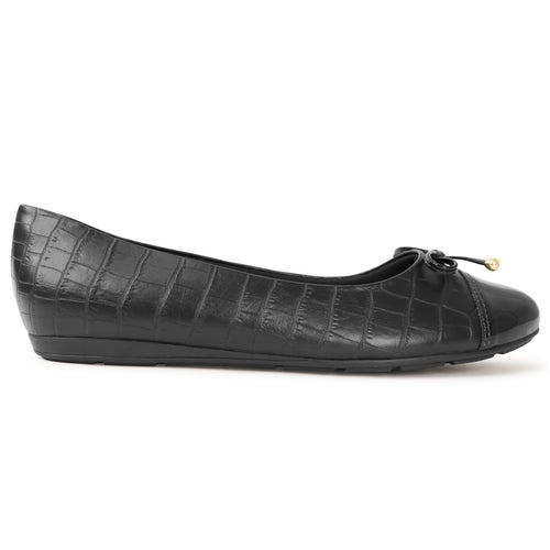 Black Croco Ladies Ballerina (100.213)