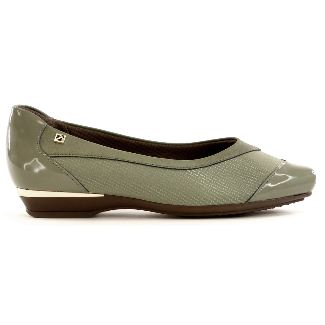Olive Flats Ballerina for Women (147.137)