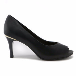 Black Peep Toe Pump for Women (362.034) - SIMPLY SHOES HONG KONG