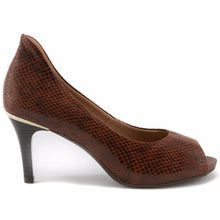 Brown Peep Toe Pumps for Women (362.046)