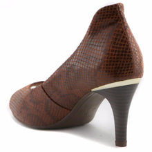 Brown Peep Toe Pumps for Women (362.046) - SIMPLY SHOES HONG KONG