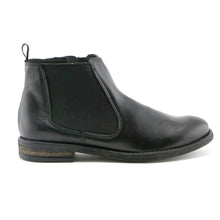 Black Napa leather with elastic casual Girls Ankle Boots (SS-7048) - SIMPLY SHOES HONG KONG