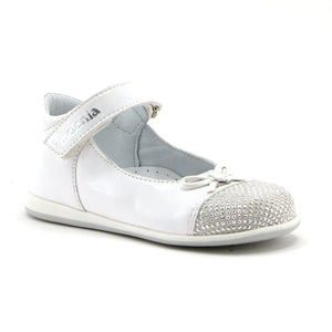 White patent leather with ankle strap and glitter Mary Jane (SS-7051)