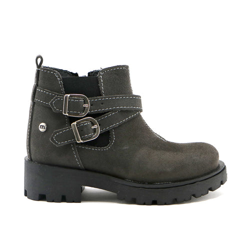 Grey suede girls riding ankle boot (SS-7054) - SIMPLY SHOES HONG KONG