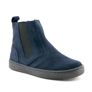 Navy suede with elastic Chelsea Girls ankle Boots (SS-7057) - SIMPLY SHOES HONG KONG