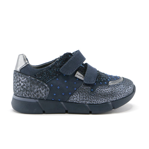 Navy suede and leather girls stylish sneaker (SS-7060) - SIMPLY SHOES HONG KONG