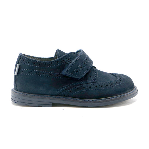 Navy soft suede boys classic shoe (SS-8021) - SIMPLY SHOES HONG KONG