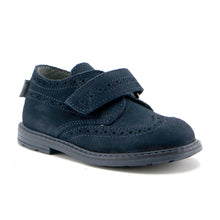 Navy soft suede boys classic shoe (SS-8021)