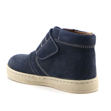 Denim Blue leather Boys velcro Ankle Boots (SS-8028)