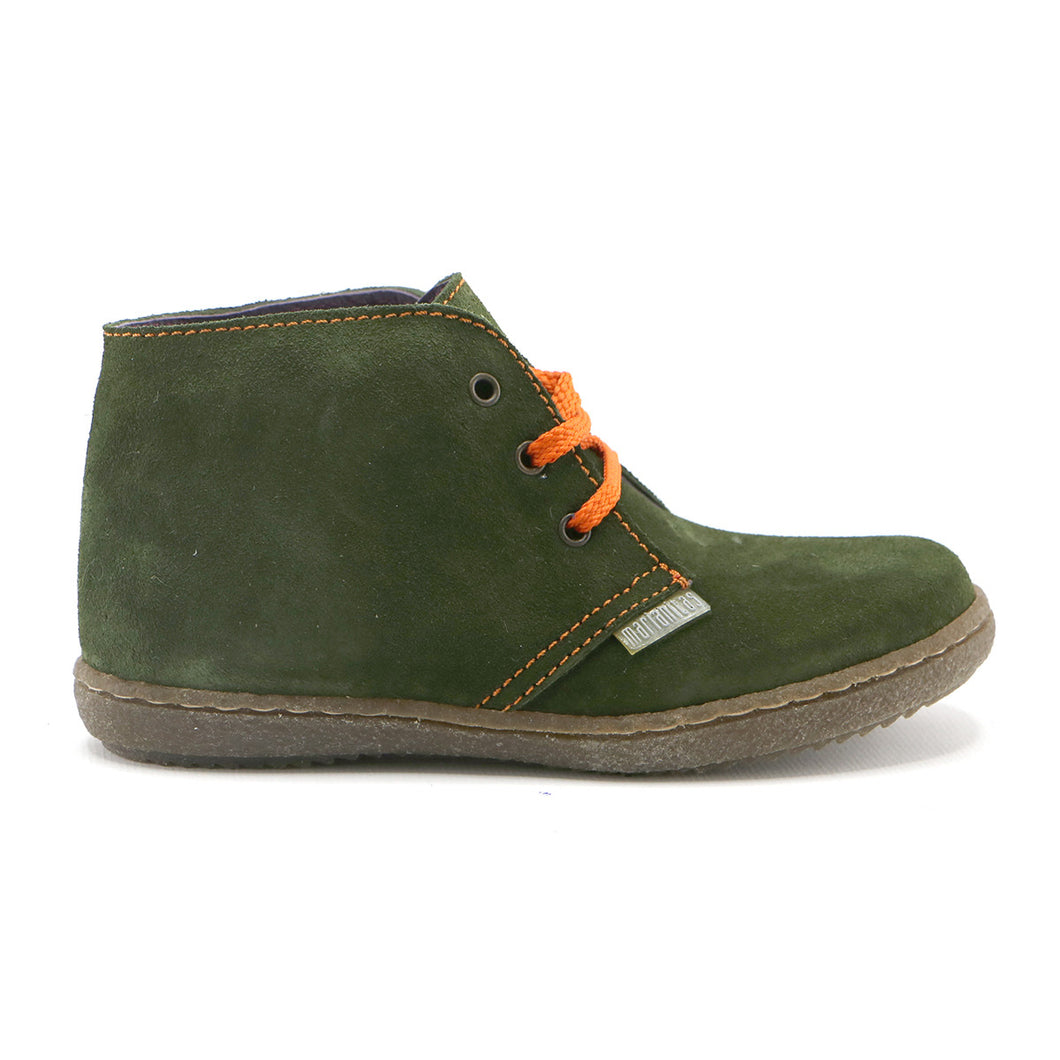 Green suede Boys casual lace-up Ankle Boots (SS-8029) - SIMPLY SHOES HONG KONG
