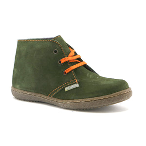 Green suede Boys casual lace-up Ankle Boots (SS-8029)