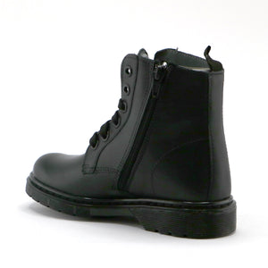 Black leather classic Ankle Boots (SS-7064)