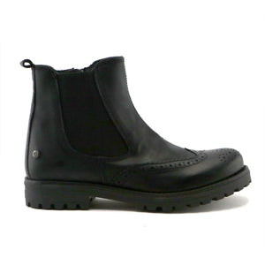 Black classic leather girls Chelsea ankle boot (SS-7065) - SIMPLY SHOES HONG KONG