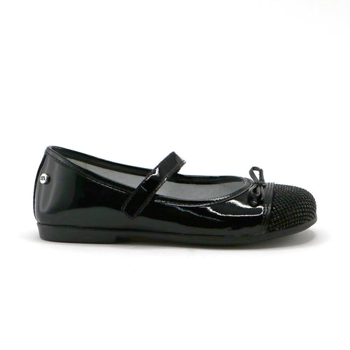 Black patent leather girls fashion ballerina (SS-7067)