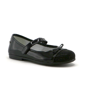 Black patent leather girls fashion ballerina (SS-7067) - SIMPLY SHOES HONG KONG