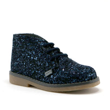 Navy gilter leather girls party ankle boot (SS-7070)
