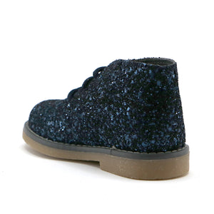 Navy gilter leather girls party ankle boot (SS-7070) - SIMPLY SHOES HONG KONG