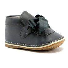 Grey leather infant girl shoes (SS-7073) - SIMPLY SHOES HONG KONG
