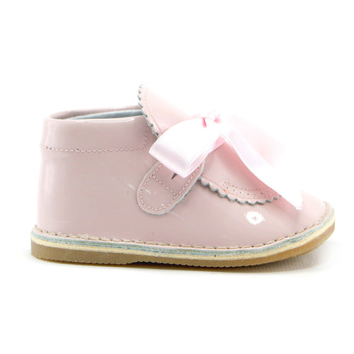 Pink patent leather infant shoes (SS-7074)