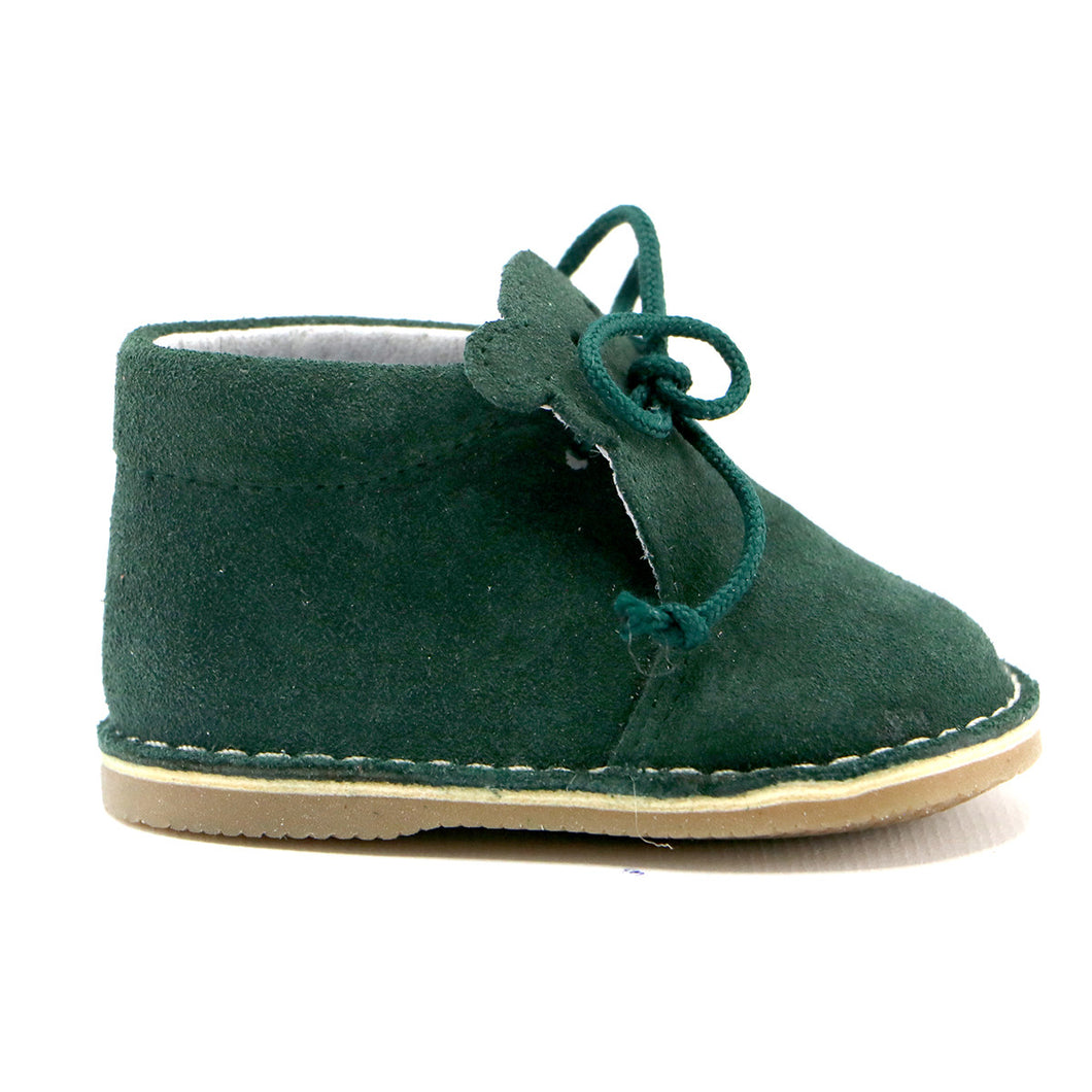 Green Soft suede with lace infant Boots (SS-7076)