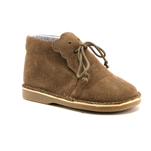 Hazelnut Soft Suede Infant and girl Bootie (SS-7078) - SIMPLY SHOES HONG KONG
