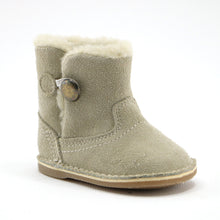 Beige leather snug booties (SS-7079) - SIMPLY SHOES HONG KONG