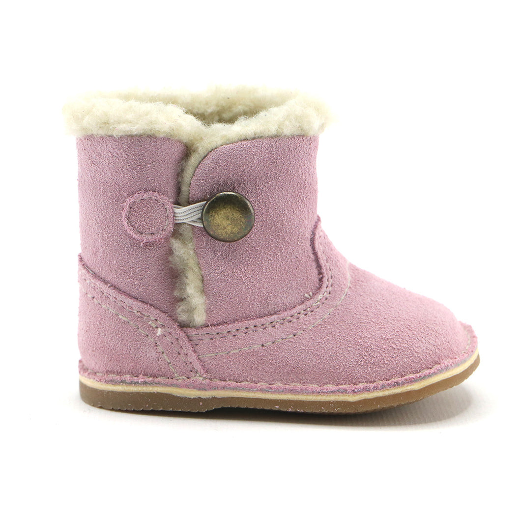 Pink leather snug booties (SS-7080) - SIMPLY SHOES HONG KONG