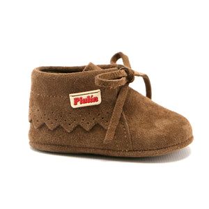 Brown soft suede infant ankle boot (SS-7082)