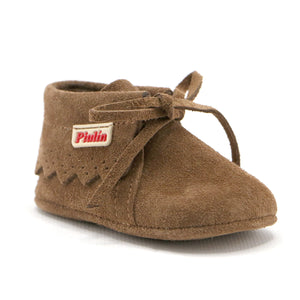 Brown soft suede infant ankle boot (SS-7082) - SIMPLY SHOES HONG KONG
