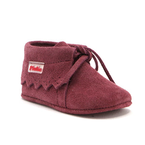 Hot Pink soft suede infant girls ankle boot (SS-7083) - SIMPLY SHOES HONG KONG