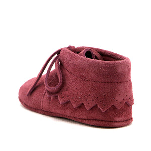Hot Pink soft suede infant girls ankle boot (SS-7083)