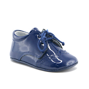 Navy patent leather dress infant shoe (SS-7085)