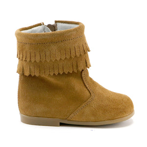 Camel soft suede tassel  infant and girls boot (SS-7087)