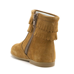 Camel soft suede tassel  infant and girls boot (SS-7087) - SIMPLY SHOES HONG KONG